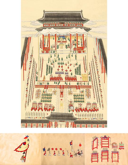 04. 조선의 마지막 연회_ 114x77cm,  그림책으로 들어간 궁중연회 시리즈_30x23cmx3a.jpg