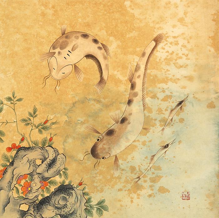 5. 어해도(물고기) 40X41cm.jpg